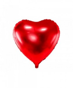 Foil Balloon Heart, 45cm, red