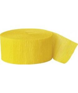 81Ft Hot Yellow Crepe Streamer