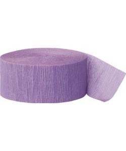 81 Ft Lavender Crepe Streamer