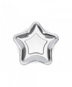 Paper Plates Star silver...