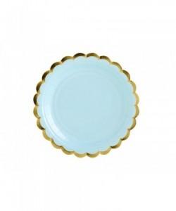 Plates light blue 18cm (1...