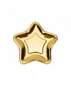 Paper Plates Star gold 18cm...