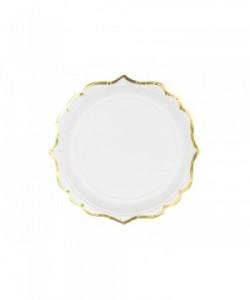 Plates white 185 cm (1 pkt...