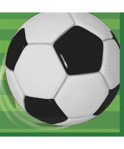 16 3D Soccer Lunch Napkins