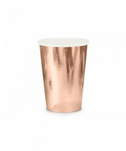 Paper cups rose gold 220ml...