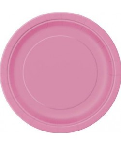 8 Hot Pink 7 Pulg Plates