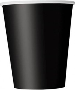 Black Solid 9oz Paper Cups,...