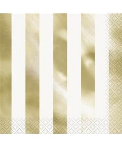 Gold Foil Stripes Luncheon...