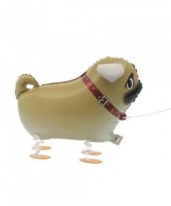 Walking Pet Pug Foil Balloon