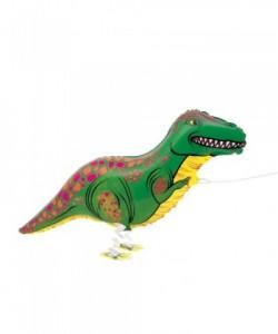 Walking Pet T-Rex Foil Balloon