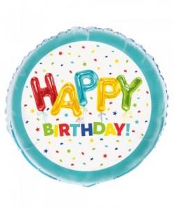 Happy Balloon Birthday Foil...