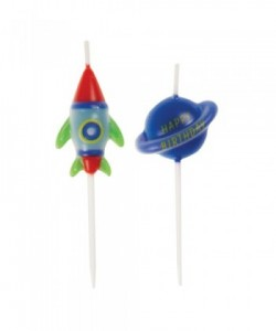 Outer Space Pick Candles 6ct