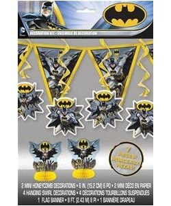 1  7 pc. Decoration Kit Batman