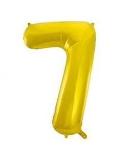 Globo Oro forma número 7...