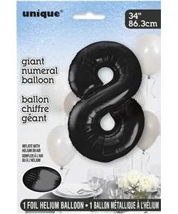 34 Pulg Foil Numeral Black...