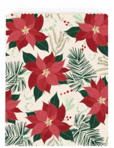 Red & Gold Poinsettia Paper...