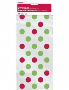 Red & Green Dots Cellophane...