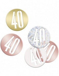 Glitz Rose Gold 40 Confetti...