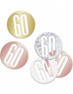 Glitz Rose Gold 60 Confetti...