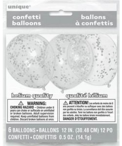 Clear Latex Balloons with...