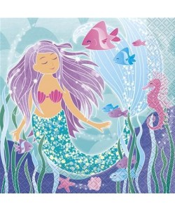 16 Mermaid Lunch Napkins