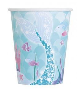 8 Mermaid Cups 9oz.