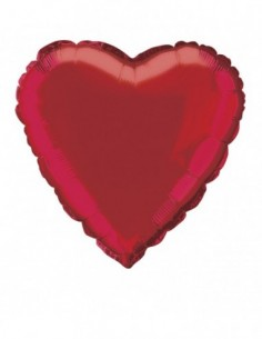 Red Solid Heart Foil...