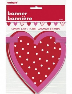 Valentine Heart Cut Out Banner
