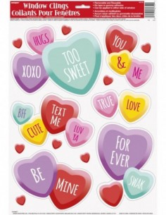 Candy Hearts Window Clings...