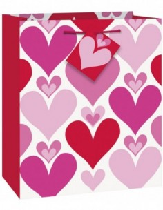 Smiling Hearts Red & Pink...