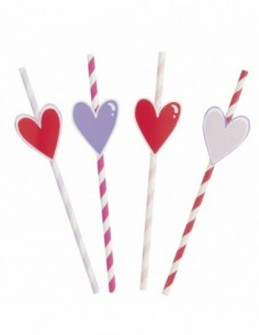 Sparkling Hearts Striped...