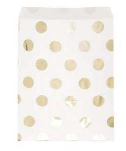 Gold Dots Treat Bags, 8ct