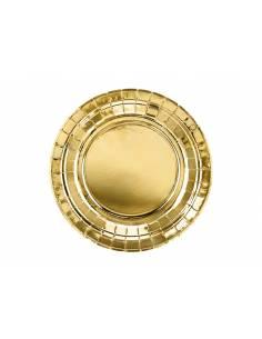 Plates, gold, 18cm (1 pkt /...