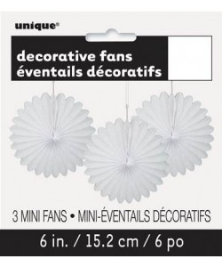 3 Decor Fan 6 pulg. White