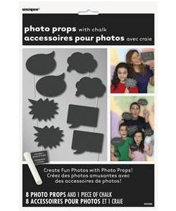 Chalk Photo Booth Props, 8ct
