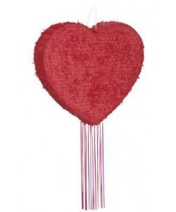 Heart Shaped Pull Pinata
