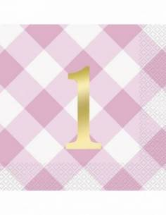 16 Pink Gingham 1St...