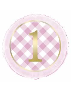 """18""""Pkg Pink Gingham 1St..."""