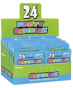 24 B'Day Candles - Multi