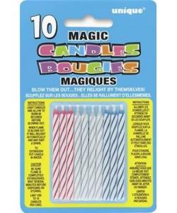 10 Magic Bday Candle-Multi