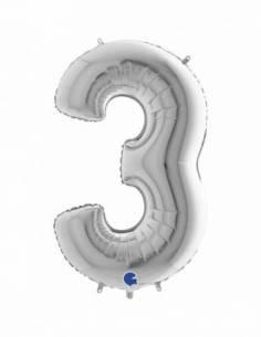 07'' (18 cm.) Número 3...