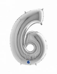07'' (18 cm.) Número 6...