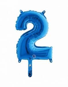 14'' (36 cm.) Número 2 Azul...