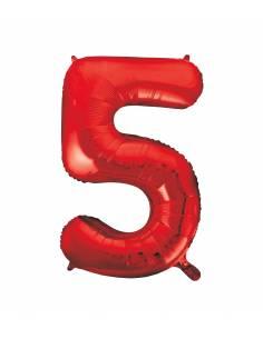 Globo Rojo forma número 5...