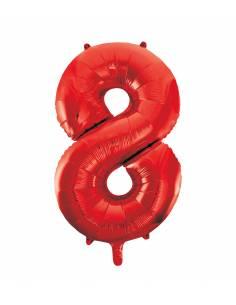 Globo Rojo forma número 8...