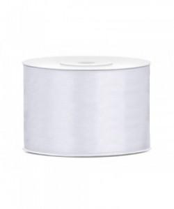 Satin Ribbon, white, 50mm/25m