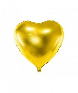Foil Balloon Heart, 45cm, gold